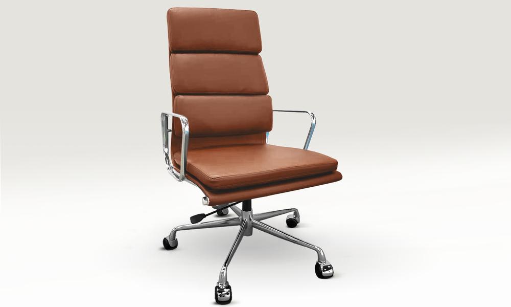 Tan replica high back padded office chair 2799   web1