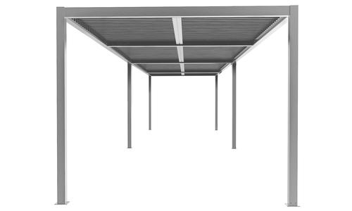 8x3 matte grey   aluminium pergola 2357   web1