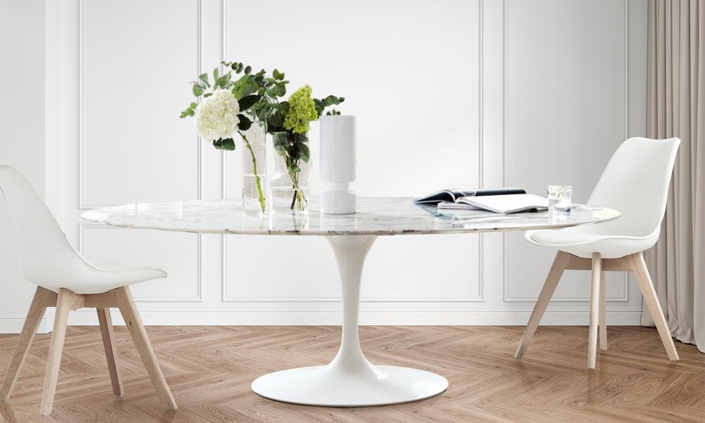 Replica eero saarinen marble oval tulip table 2861   web1