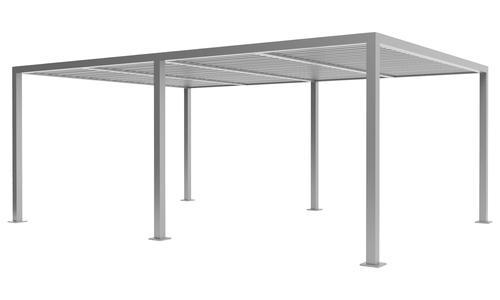 6x4 matte grey   aluminium pergola 2358   web1