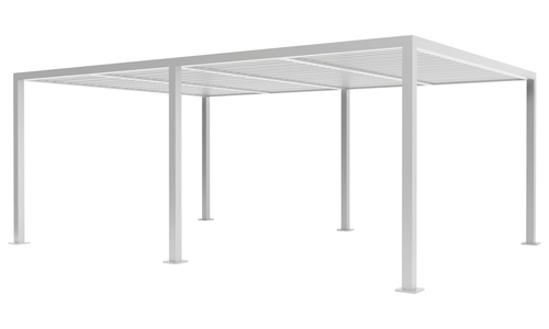 6x4 matte white   aluminium pergola 2358   web1