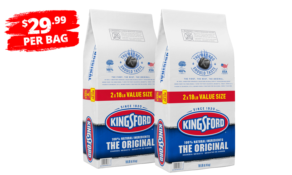 Kingsford charcoal pack of two 18lb 1407   web1