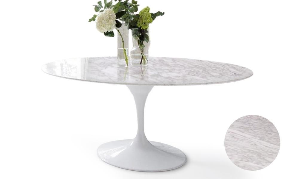 Replica eero saarinen marble oval tulip table 2861   web2