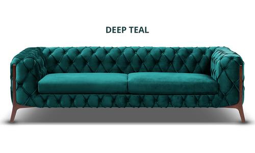 New deep teal diablo velvet button 3 seater sofa   web1