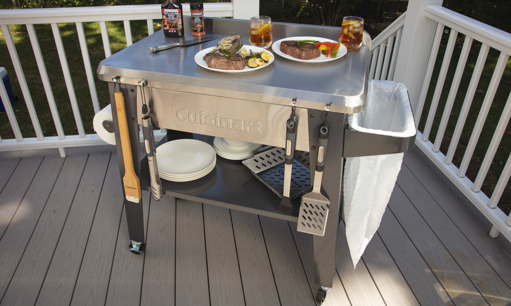 Cuisinart stainless steel outdoor prep table 2879   web2