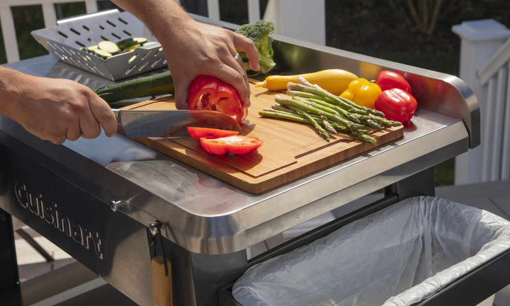 Cuisinart stainless steel outdoor prep table 2879   web5