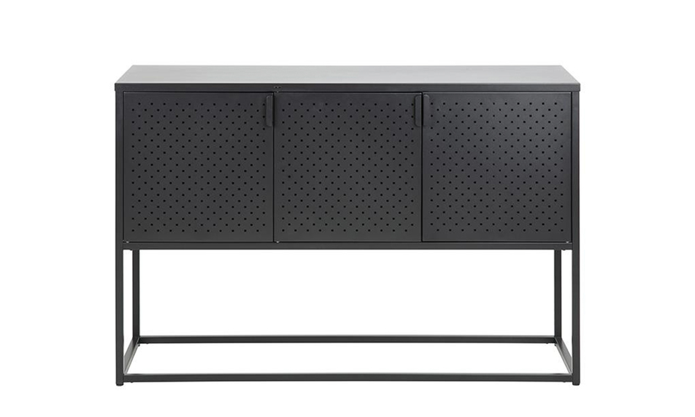 Kasper sideboard 3 doors 120cm black 2893   web2