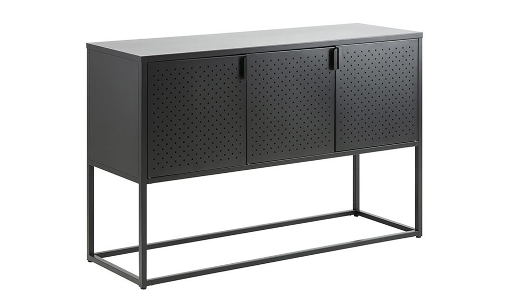 Kasper sideboard 3 doors 120cm black 2893   web3
