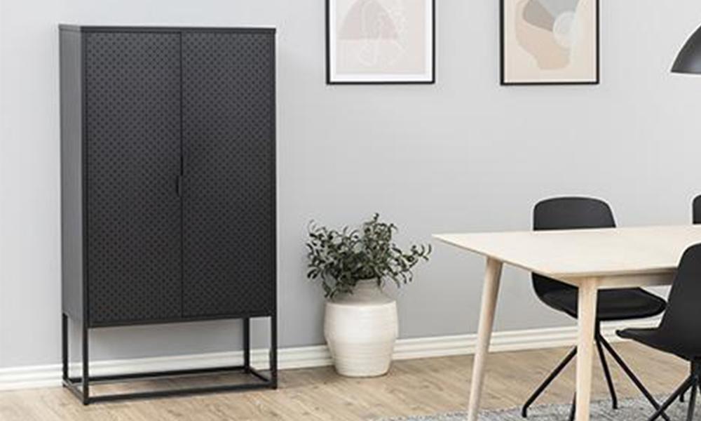 Kasper tall sideboard cabinet unit 80cm 2894   web1