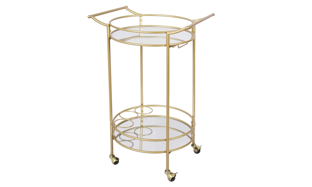 Bar cart with mirrored shelves 2923   web1