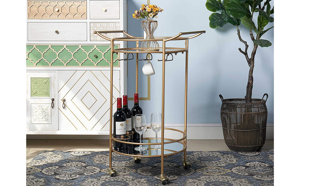 Bar cart with mirrored shelves 2923   web2