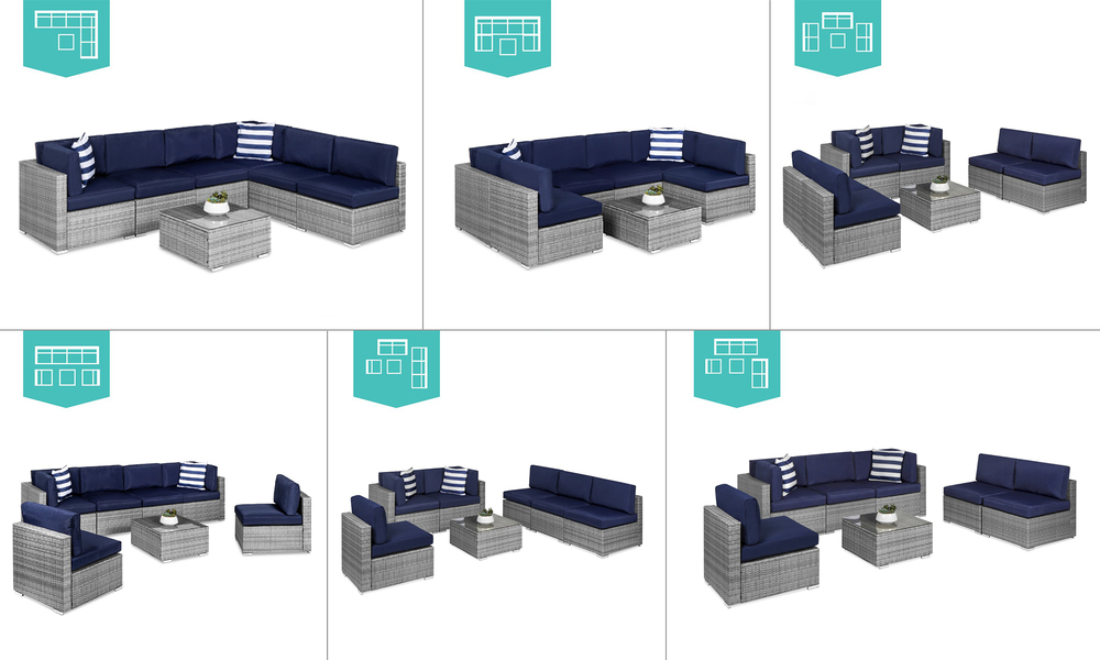 New port 7pcs wicker sofa set 2948   web4