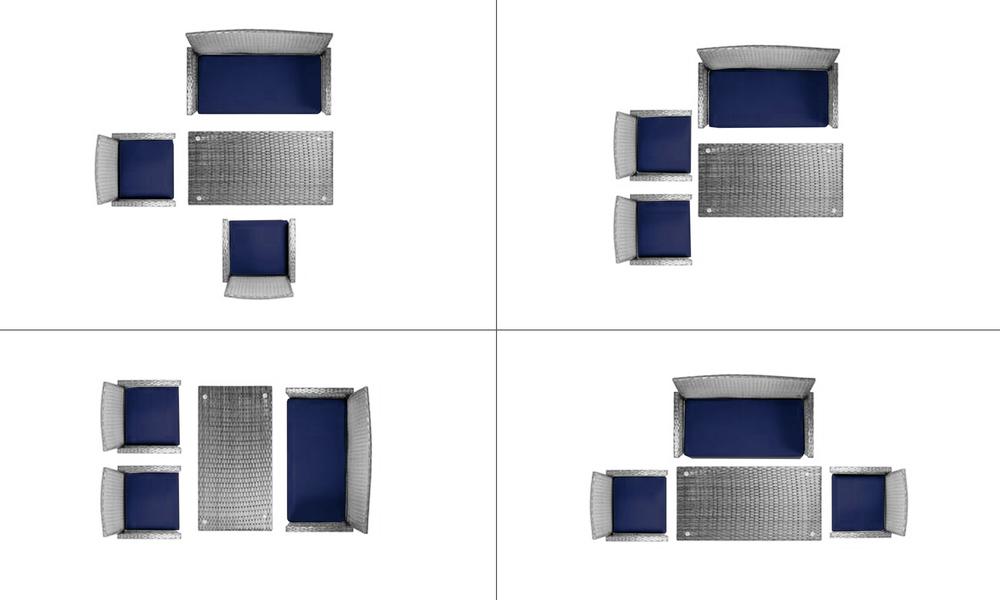 New port 4pcs wicker sofa set 2949   web3