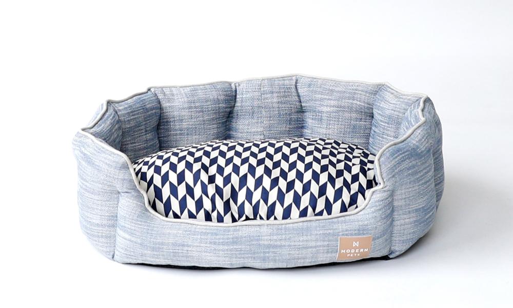 Modern pets luxury chevron dog bed 2912   web2