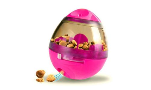 Pink modern pets tumbler feeder dog toy 2947   web1