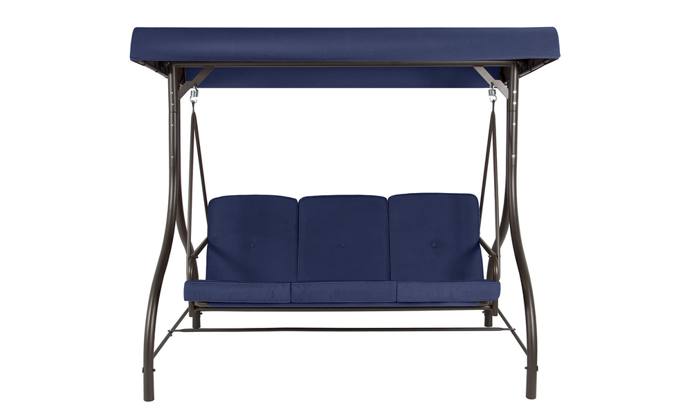 Navy 3 seater swing chair to bed 2951    web3