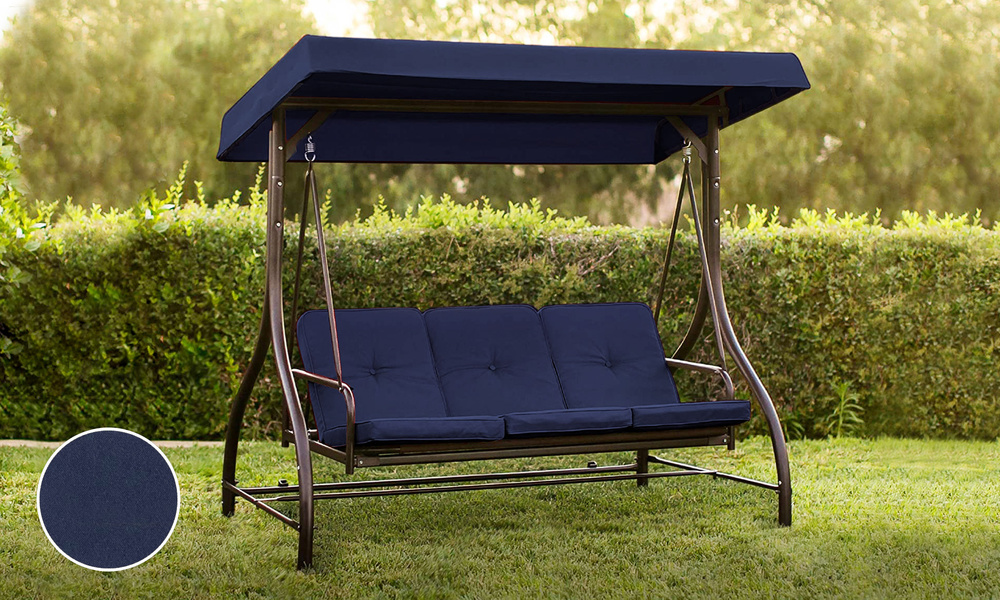 Navy 3 seater swing chair to bed 2951    web1 2