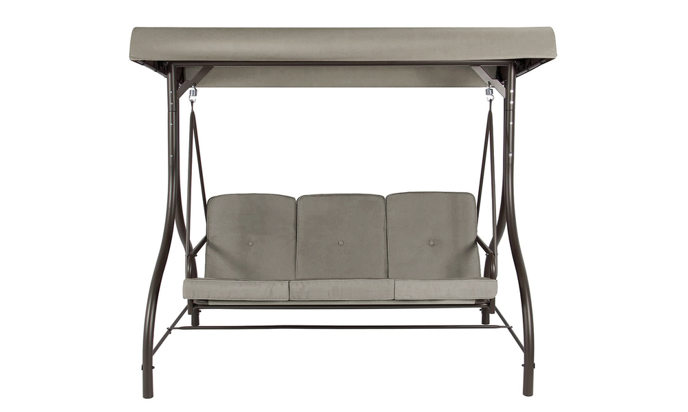 Grey 3 seater swing chair to bed 2951    web3