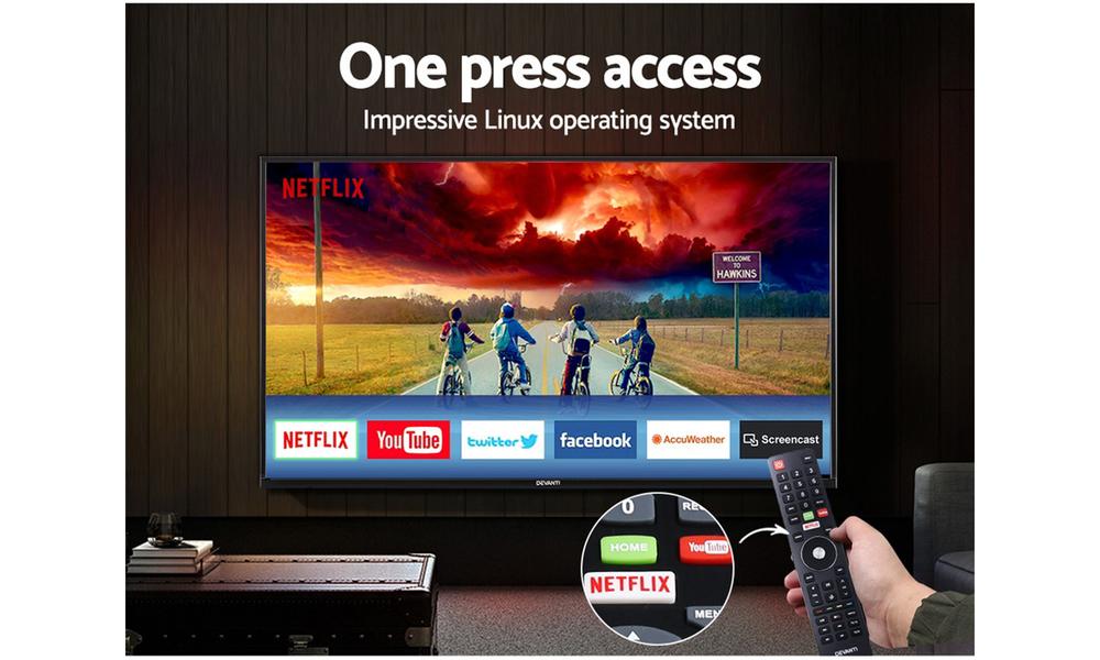 Devanti 55  thin screen smart tv 2954   web3