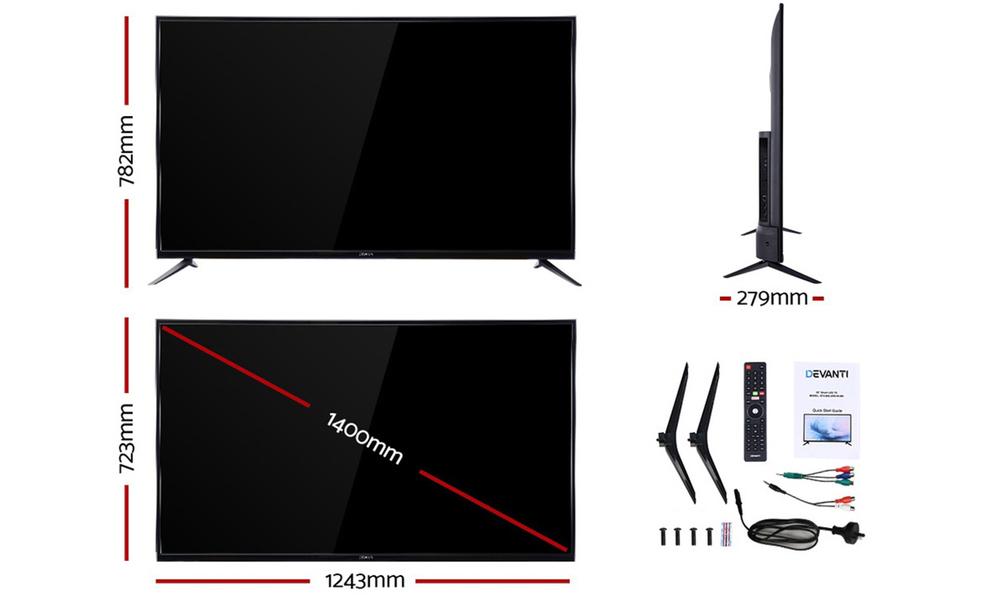 Devanti 55  thin screen smart tv 2954   web2