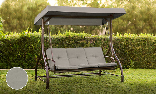 Grey 3 seater swing chair to bed 2951    web1
