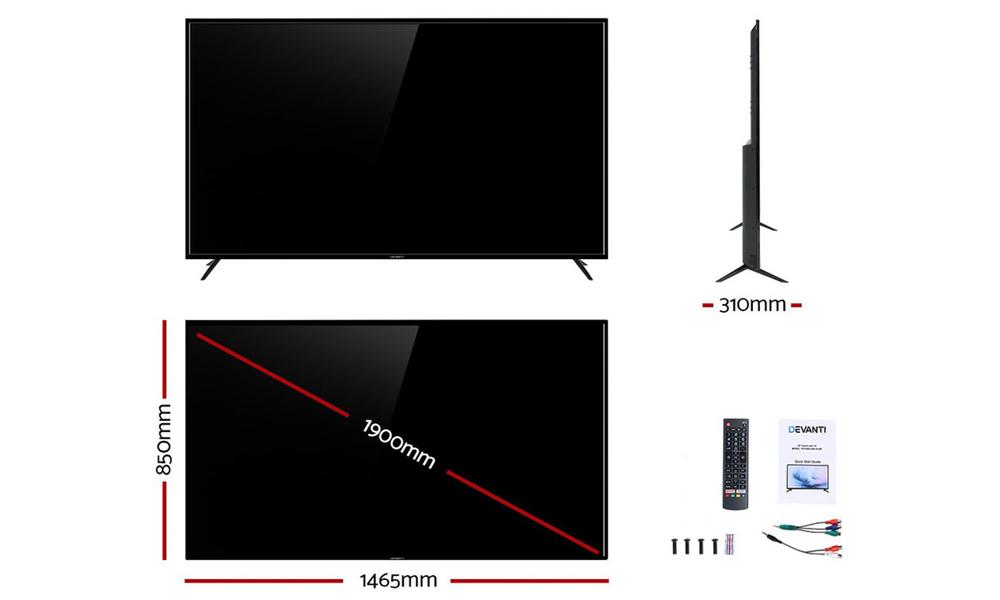 Devanti led tv smart tv 75 inch lcd 4k uhd hdr 75television 2963   web2