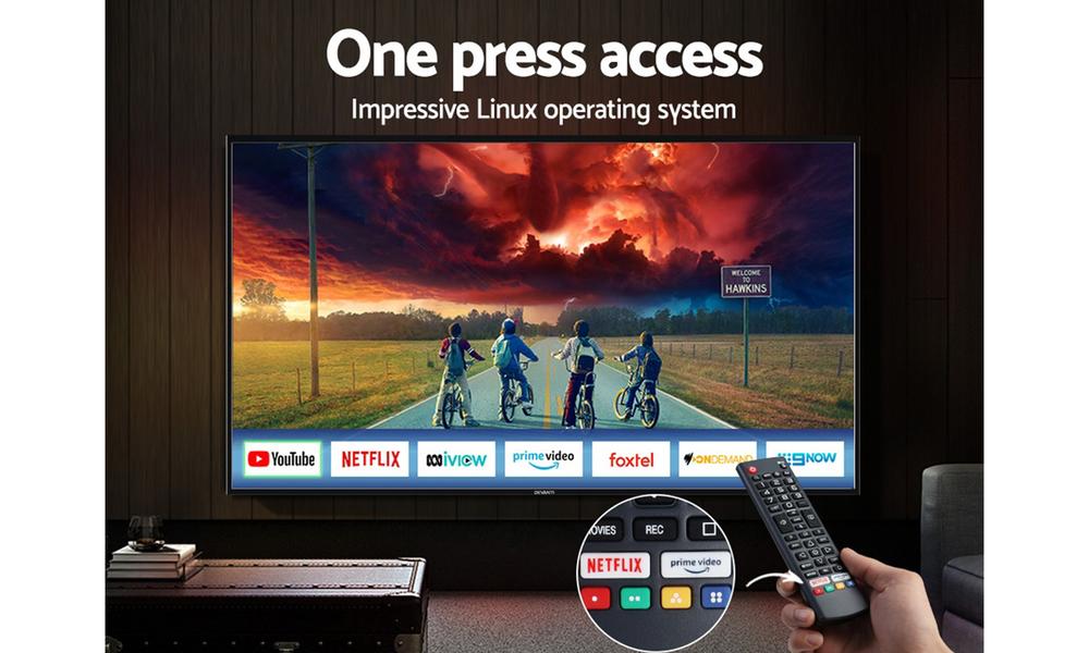 Devanti led smart tv 65 inch 4k uhd lcd tv television netflix 2964   web3