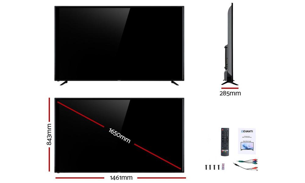 Devanti led smart tv 65 inch 4k uhd lcd tv television netflix 2964   web2