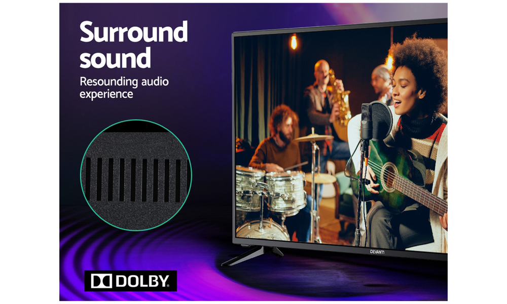 Devanti smart tv 40 inch led tv 40 2k full hd lcd slim screen netflix dolby 2962   web6