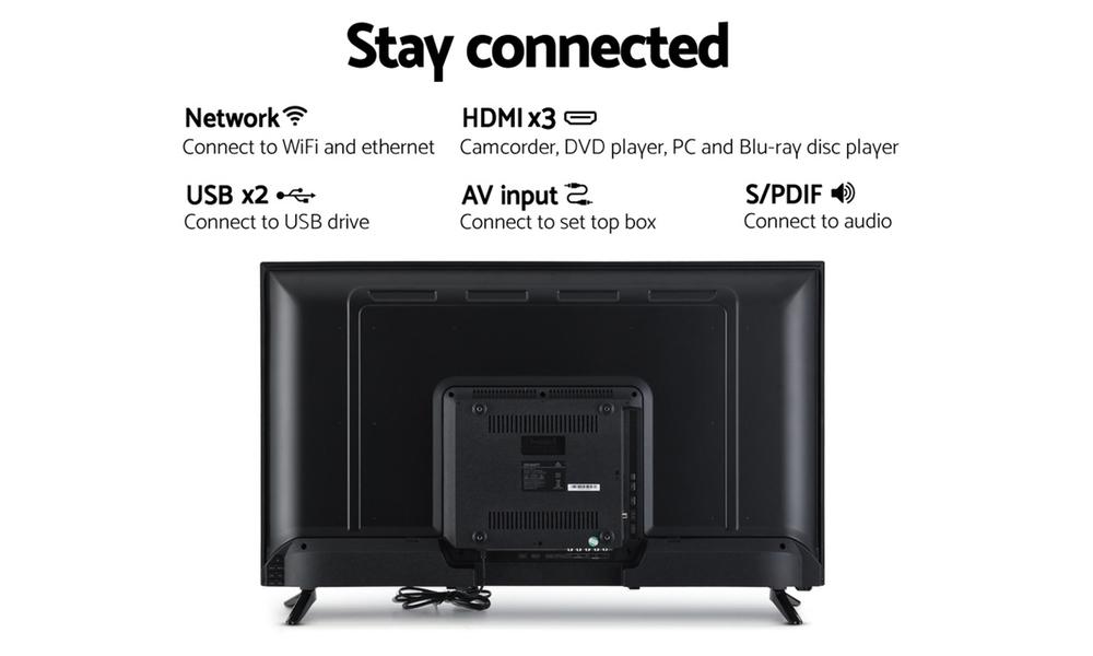 Devanti smart tv 40 inch led tv 40 2k full hd lcd slim screen netflix dolby 2962   web5
