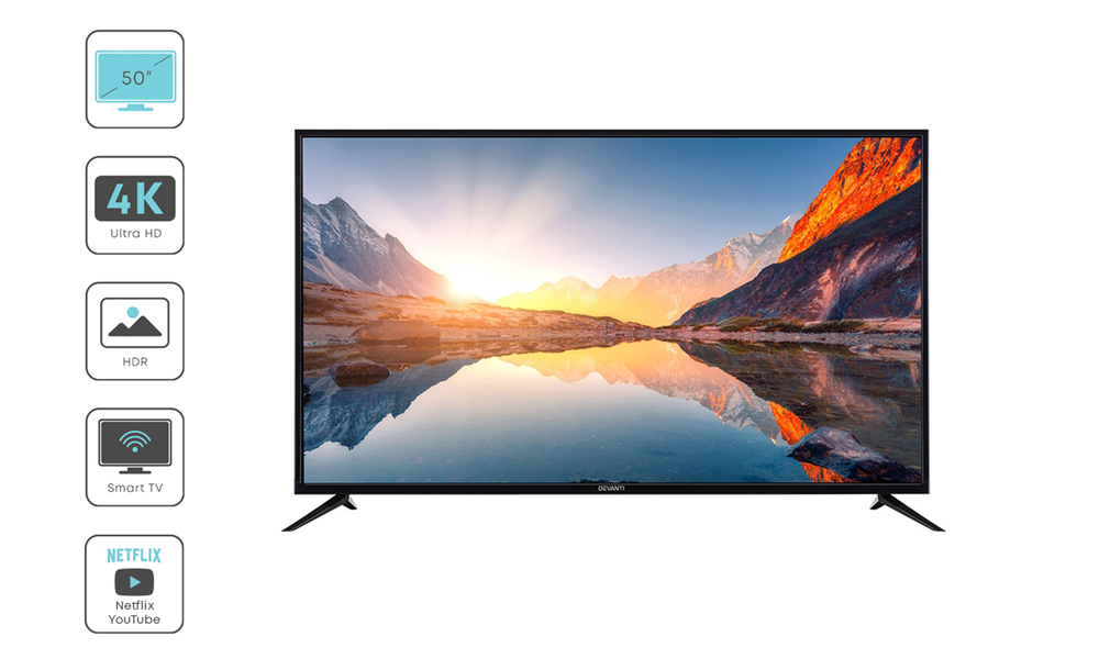 Devanti 50  thin screen smart tv 2956   web7