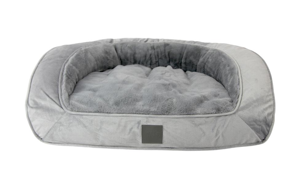 Portsea grey plush dog bed 2971   web6