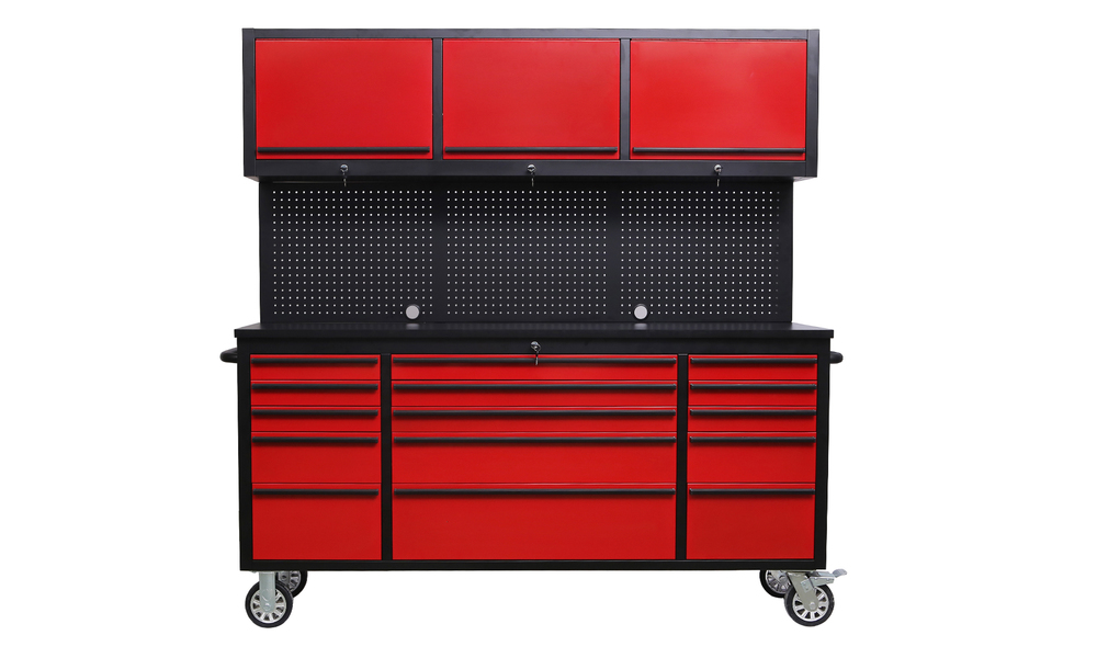 Tool box chest tool on rollers red 2959   web1