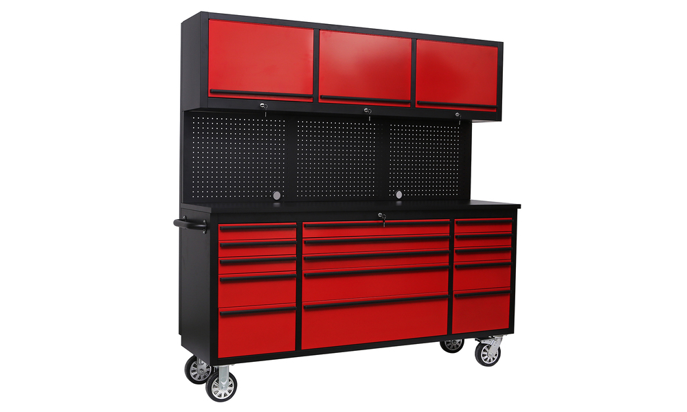 Tool box chest tool on rollers red 2959   web2