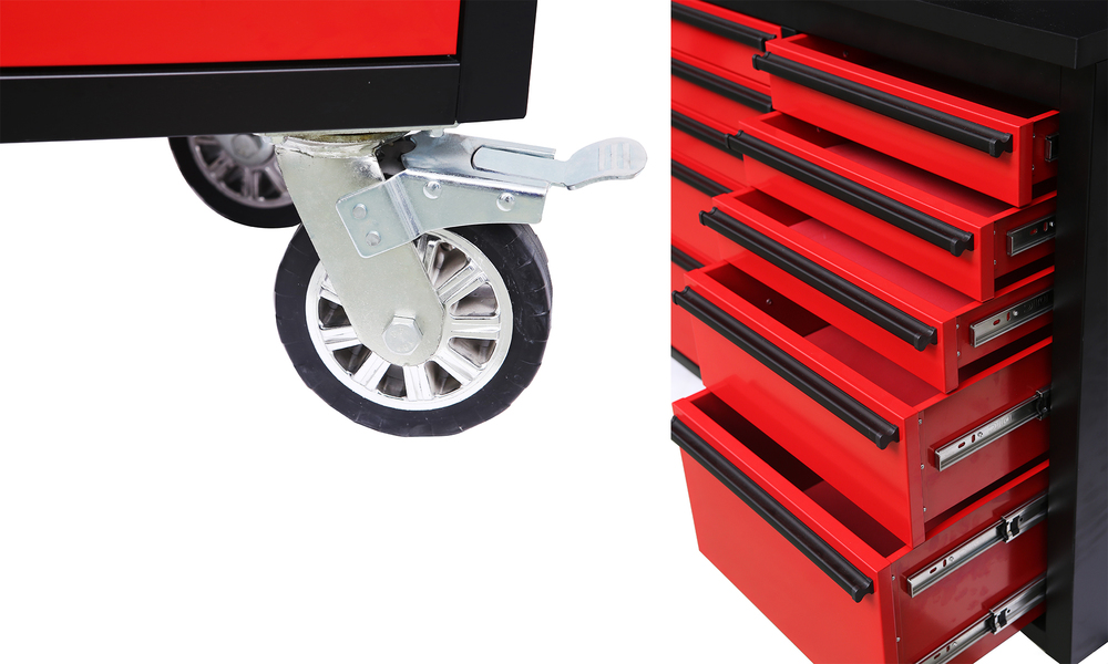 Tool box chest tool on rollers red 2959   web4