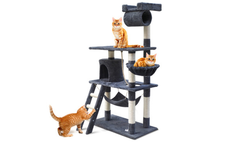 Cat condo 141cm scratching post 2976   web1
