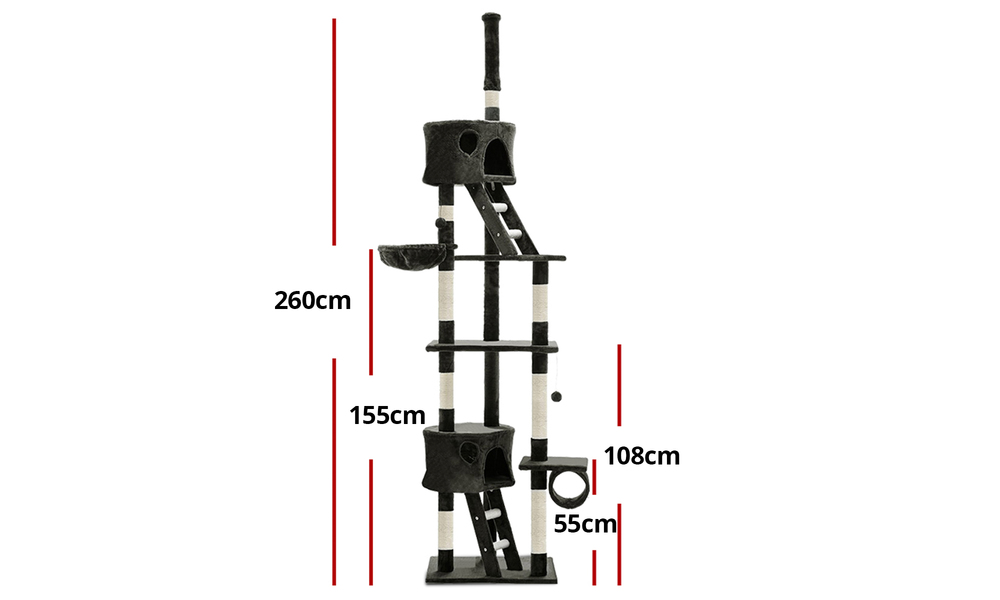 Cat condo 260cm scratching tower 2979   web2
