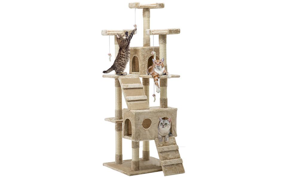 Cat condo 180cm scatching post beige 2980   web1