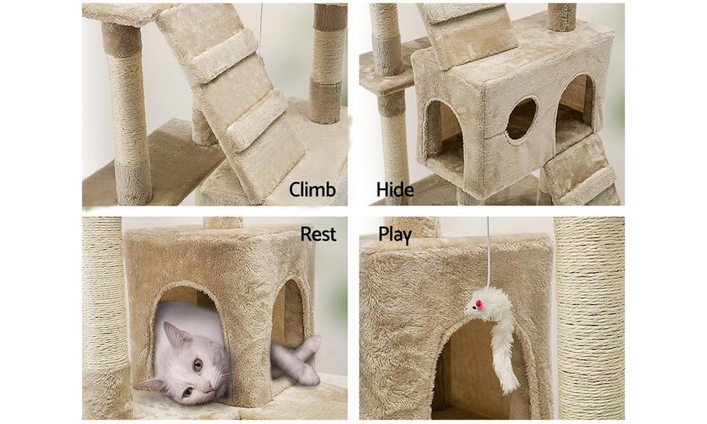 Cat condo 180cm scatching post beige 2980   web5