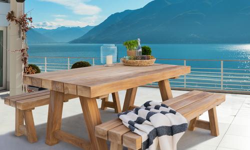 Mackinder teak dining table lifestyle   web1