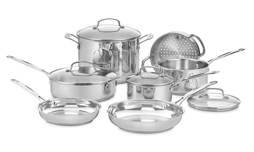 Cuisinart chef's classic stainless steel 11 piece cookware set 2877   web1
