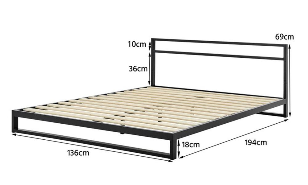 Austin modern metal bed frame with headboard 3010   web2