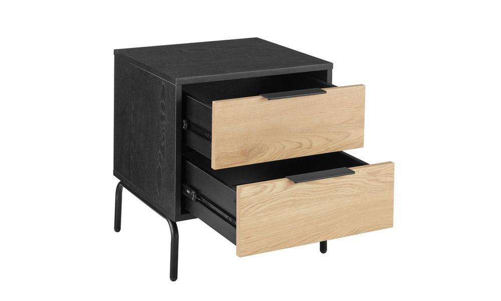 Nala modern bedside table   2 drawer 3023   web4