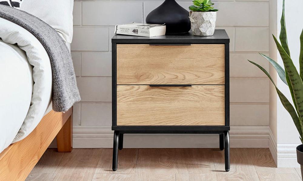 Nala modern bedside table   2 drawer 3023   web1