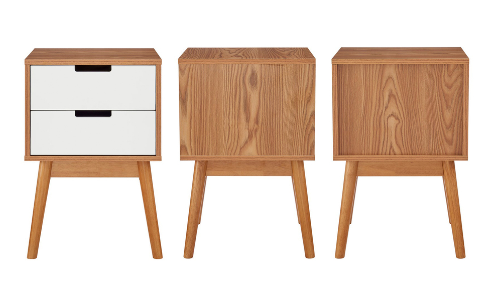 Norway two drawer bedside table 3026   web3