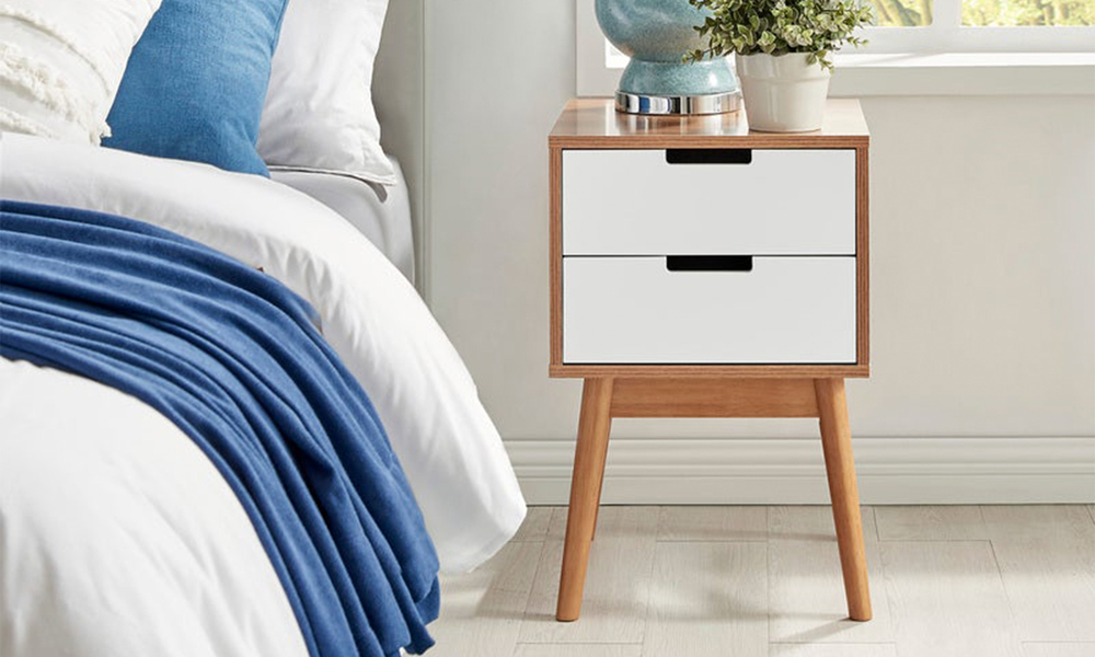 Norway two drawer bedside table 3026   web1