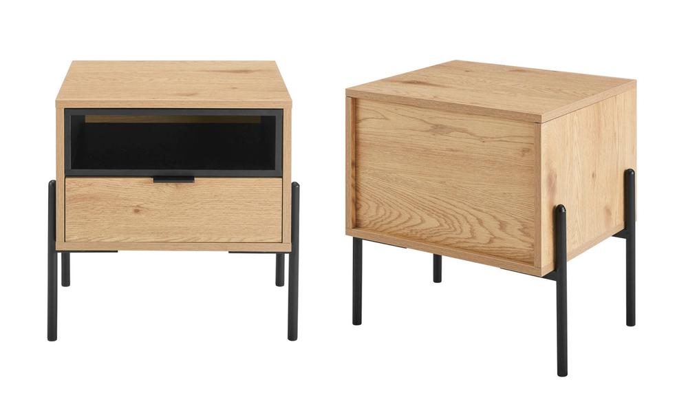 Oslo oak single drawer modern bedside table 3028   web3
