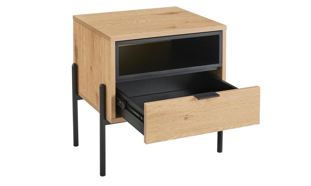 Oslo oak single drawer modern bedside table 3028   web4