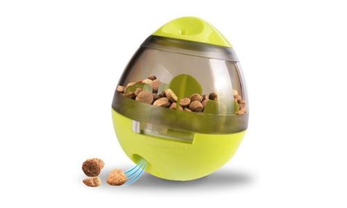 Green modern pets tumbler feeder dog toy 2947   web1