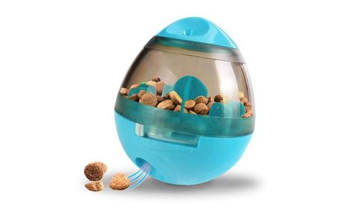 Blue modern pets tumbler feeder dog toy 2947   web1